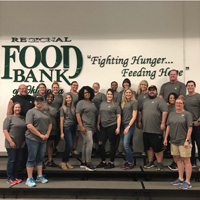 Employees volunteer at Regional Food Bank of Oklahoma.