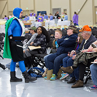 Captain Supertooth at a community service event.