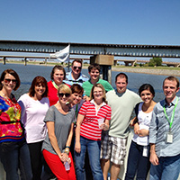 Delta Dental employees enjoying free time on the lake.