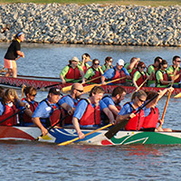 An employee boat race, hosted by Delta Dental of Oklahoma.