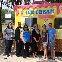Delta Dental Employees enjoying an ice cream truck.