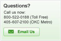 Questions? Call us now: 800-522-0188 or 405-607-2100 or e-mail us!
