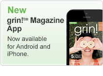 New grin! Magazine App now available for Android and iPhone.