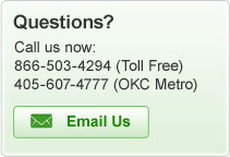Questions? Call us now: 866-503-4294 or 405-607-4777 or e-mail us!