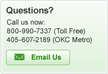 Questions? Call us now: 800-990-7337 or 405-607-2189 or e-mail us!