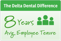 The Delta Dental Difference - 8 year average employee tenure