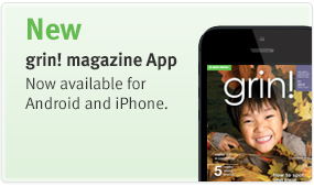 grin! Magazine is now available as an app.