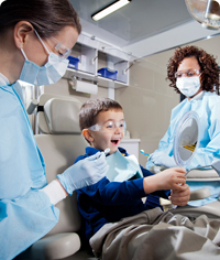 Pediatric dental care through Delta Dental of Oklahoma.
