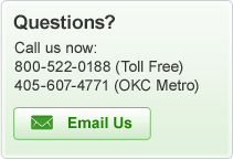 Questions? Call us now: 800-522-0188 or 405-607-4771 or e-mail us!